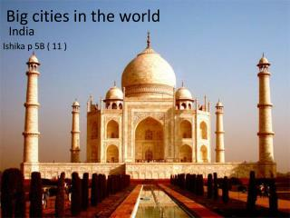 Big cities in the world