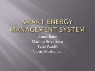 Smart Energy management  SyStem