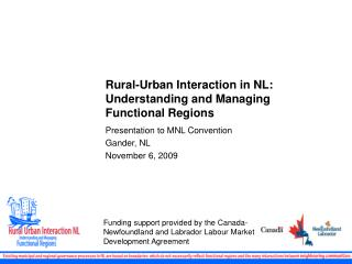 Rural-Urban Interaction in NL: Understanding and Managing Functional Regions