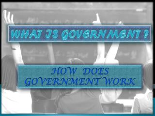 What is government ?