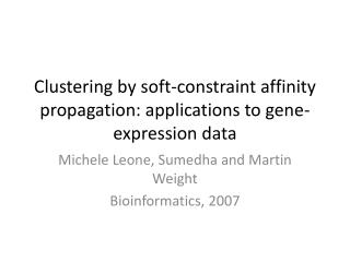 Clustering by soft-constraint affinity propagation: applications to gene-expression data