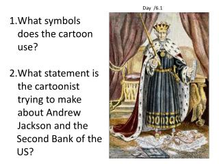 What symbols does the cartoon use?