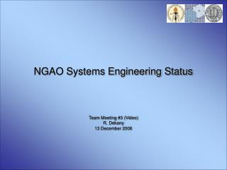 NGAO Systems Engineering Status