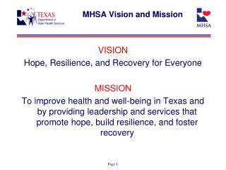 MHSA Vision and Mission