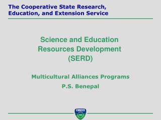 Multicultural Alliances Programs P.S. Benepal