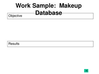 Work Sample:  Makeup Database