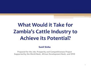 What Would it Take for Zambia's Cattle Industry to Achieve its Potential?