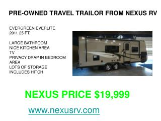 NeXus RV Used Units