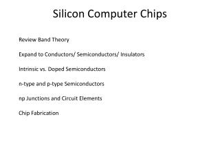 Silicon Computer Chips