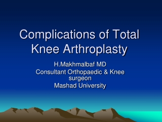 Late soft tissue complication