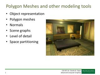 Polygon Meshes and other modeling tools