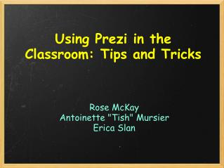 Using Prezi in the Classroom: Tips and Tricks