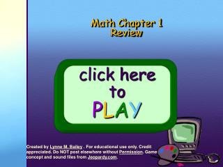 Math Chapter 1 Review