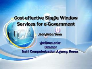 Cost-effective Single Window Services for e-Government