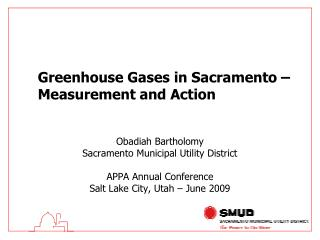 Greenhouse Gases in Sacramento – Measurement and Action