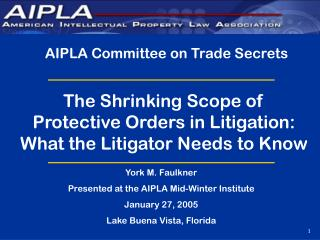 AIPLA Committee on Trade Secrets