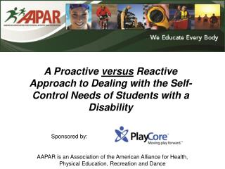 AAPAR is an Association of the American Alliance for Health,