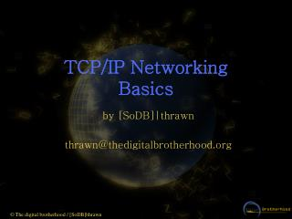 TCP/IP Networking Basics