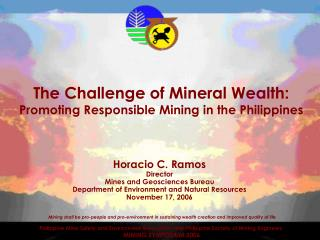 The Challenge of Mineral Wealth:  Promoting Responsible Mining in the Philippines