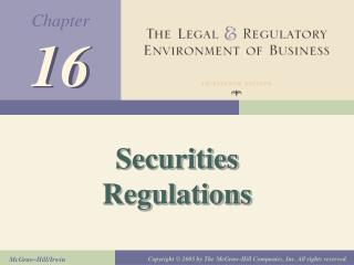 Securities Regulations