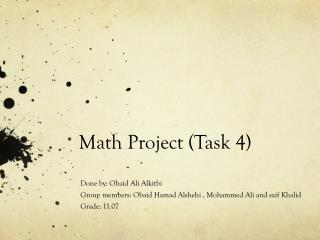 Math Project (Task 4)