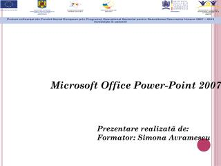 Microsoft Office  Power-Point  2007