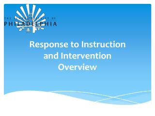 Response to Instruction  and Intervention Overview