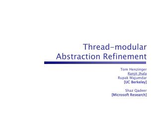 Thread-modular Abstraction Refinement