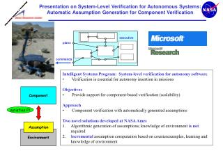 Intelligent Systems Program:  System-level verification for autonomy software