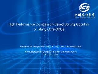 High Performance Comparison-Based Sorting Algorithm on Many-Core GPUs