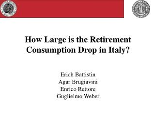 How Large is the Retirement Consumption Drop in Italy?