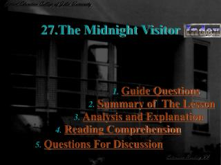 27.The Midnight Visitor