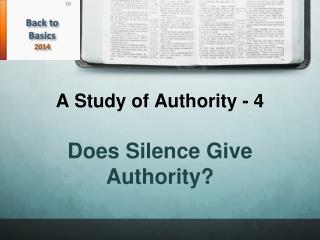 A Study of Authority - 4
