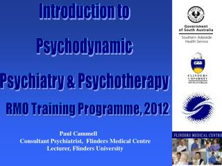 Introduction to Psychodynamic Psychiatry & Psychotherapy