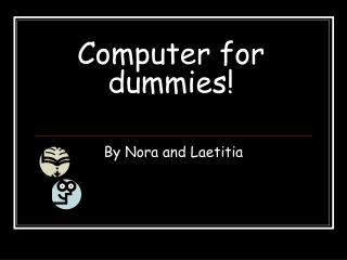 Computer for dummies!