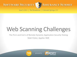 Web Scanning Challenges