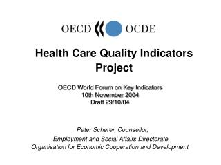 Health Care Quality Indicators Project
