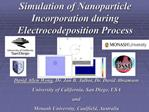 Simulation of Nanoparticle Incorporation during Electrocodeposition Process