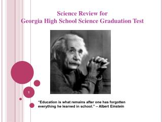 Science Review for Georgia High School Science Graduation Test