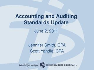 Accounting and Auditing Standards Update