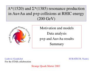 Motivation and models Data analysis p+p and Au+Au results Summary