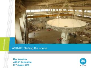 ASKAP: Setting the scene