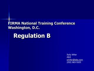 FIRMA National Training Conference Washington, D.C.