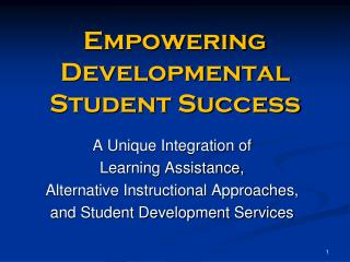Empowering Developmental Student Success
