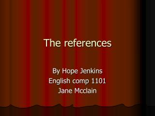 The references