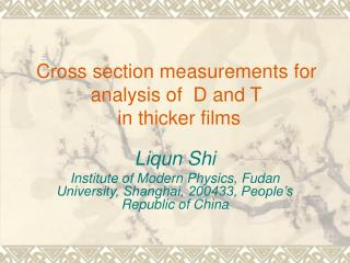 Cross section measurements for analysis of  D and T  in thicker films