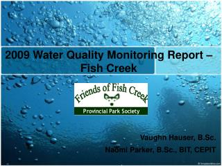 2009 Water Quality Monitoring Report – Fish Creek
