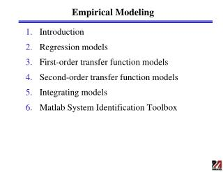 Empirical Modeling