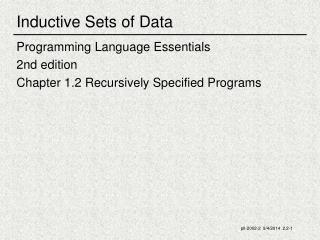 Inductive Sets of Data