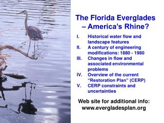 The Florida Everglades – America's Rhine?